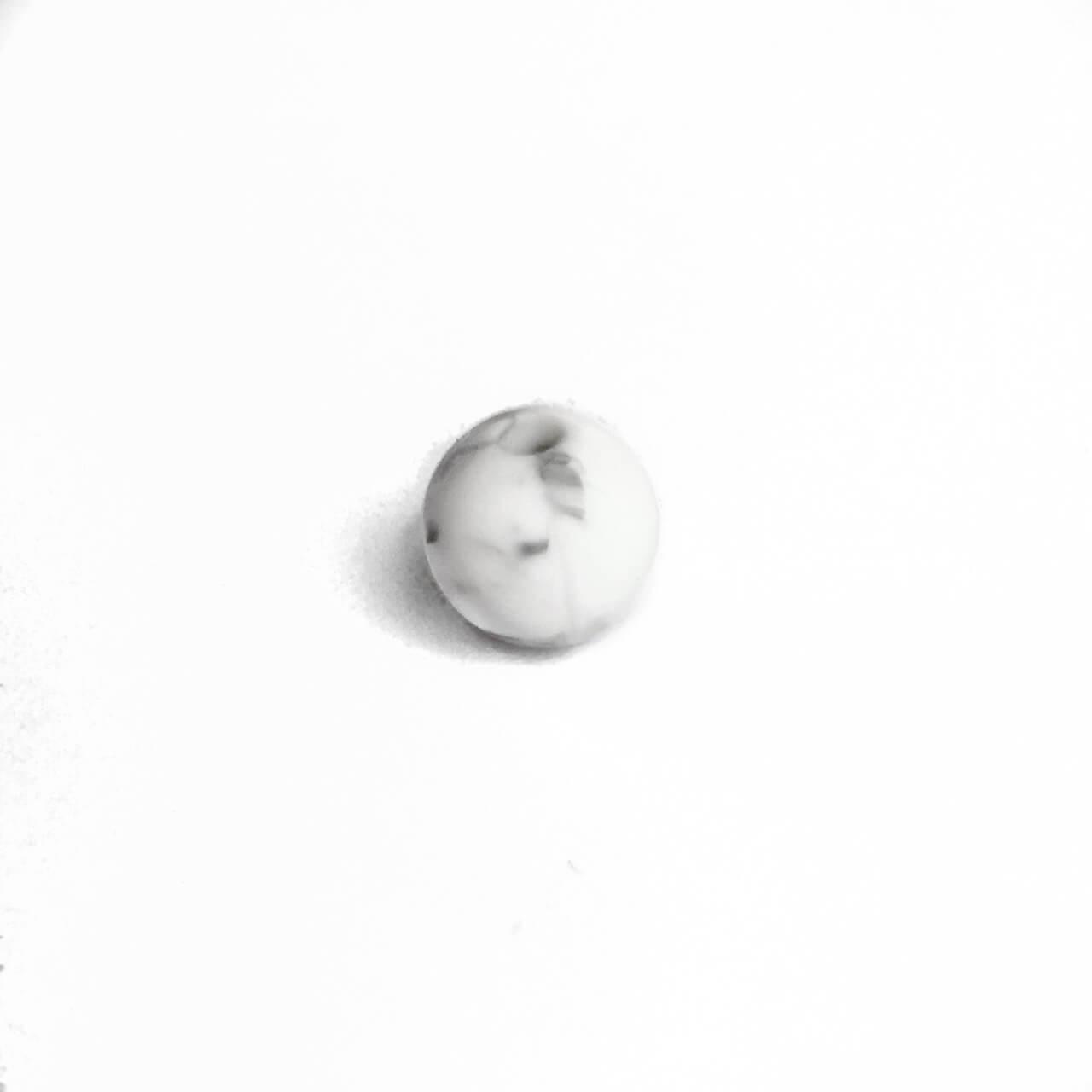 9мм (мрамор) круглая, силиконовая бусина