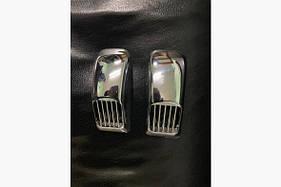 Решетка на повторитель `Прямоугольник` (2 шт, ABS) Hyundai I-10 2008-2013 гг.