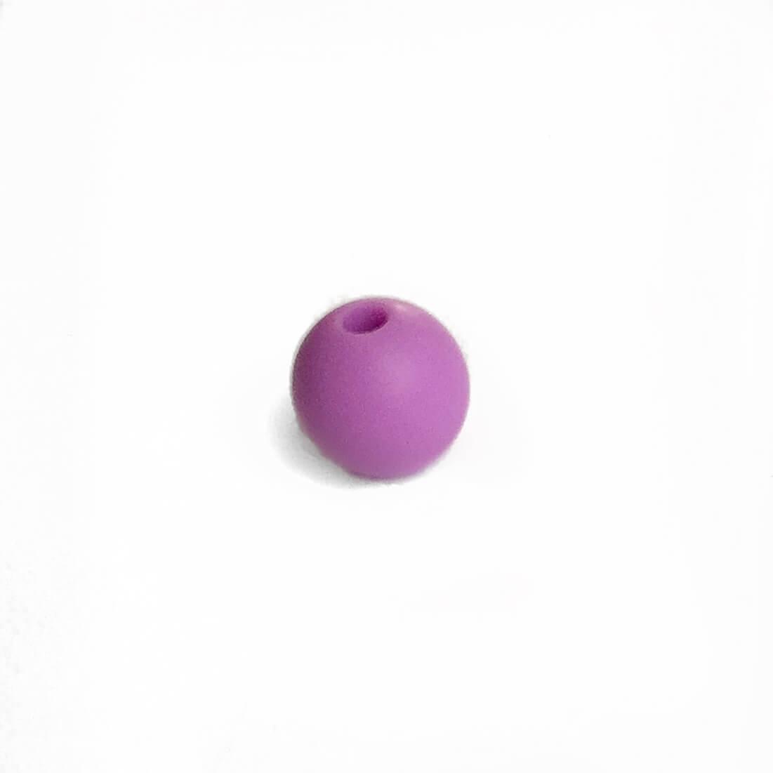 9мм (сирень) круглая, силиконовая бусина