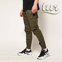 Зауженные карго штаны хаки мужские от бренда ТУР Симбиот (Symbiote) размер  S 5693aff0f8898