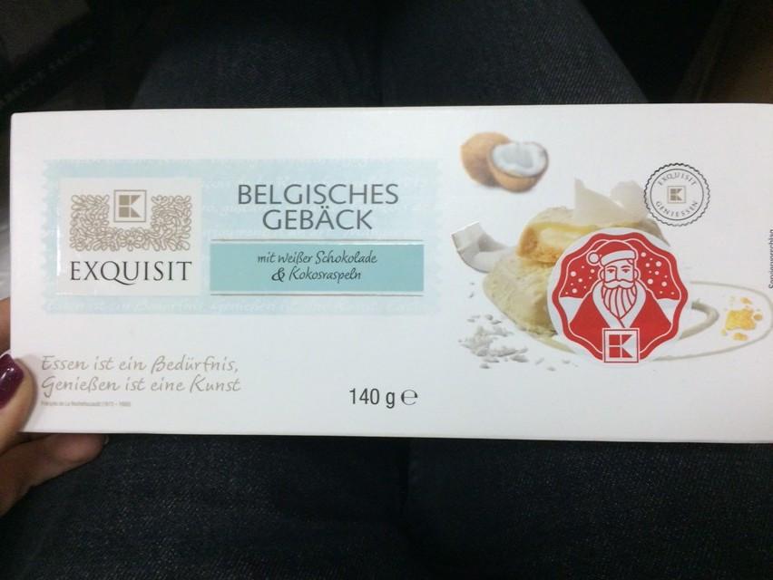 Печенье Belgisches Geback с кокосом