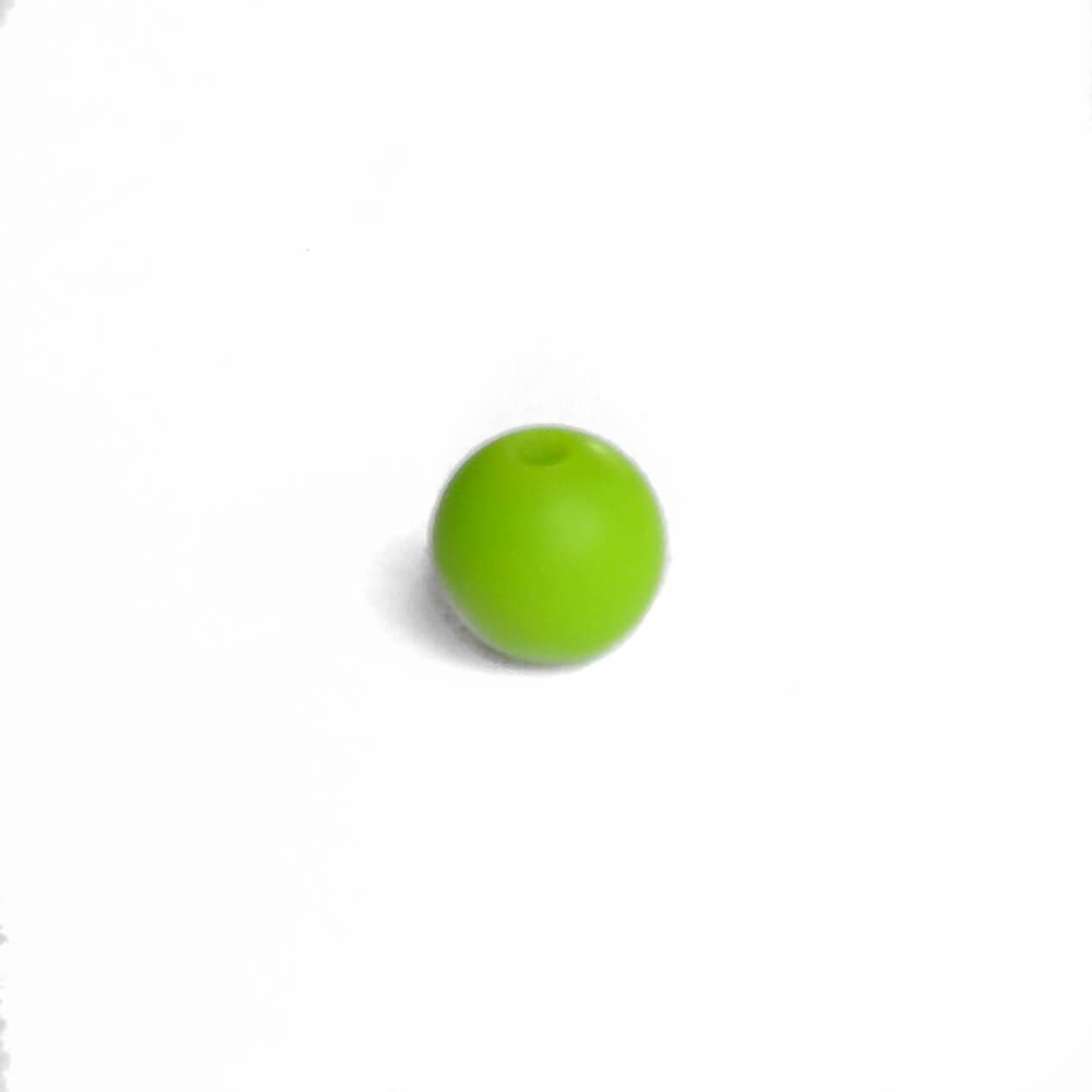 9мм (зеленый) круглая, силиконовая бусина