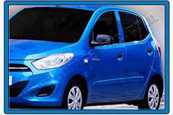 Окантовка стекол (6 шт, нерж.) Hyundai I-10 2014-2017 гг.