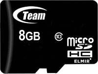 Карта памяти micro SDHC 8Gb Team (TUSDH8GCL1002), Class 10