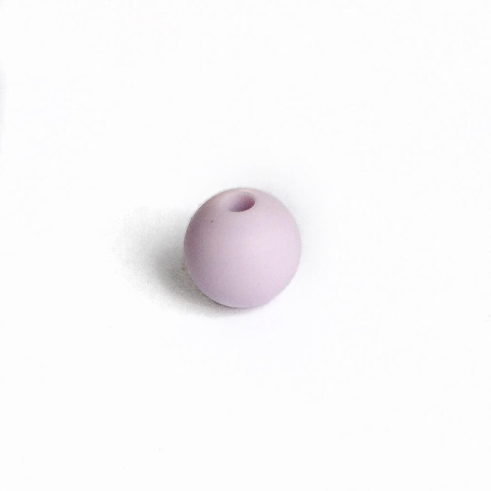9мм (лаванда) круглая, силиконовая бусина