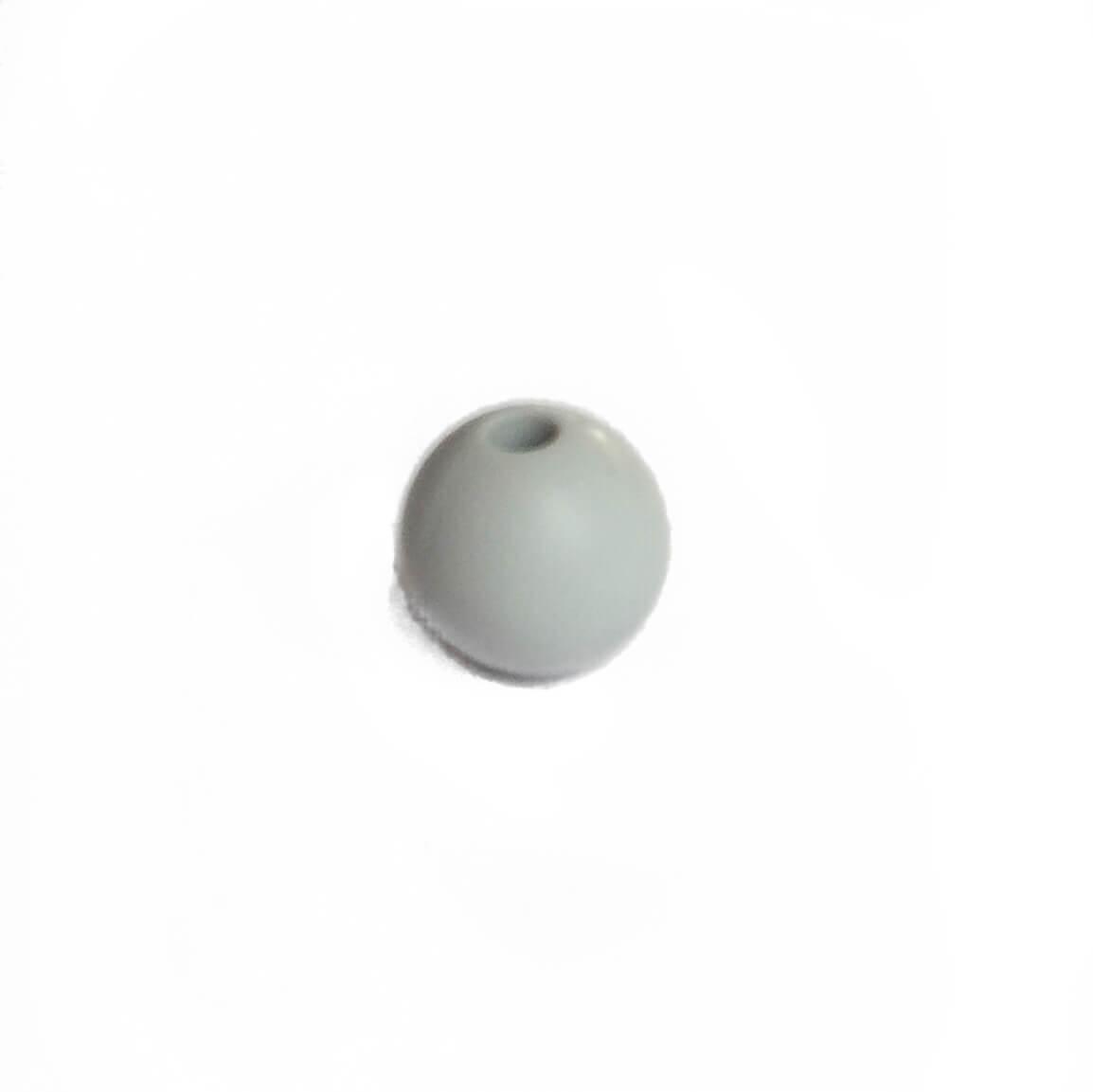 9мм (светло серый) круглая, силиконовая бусина