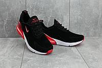 Кроссовки A 5058-4 (Nike Air 270) (весна-осень, мужские, искуственный замш, черно-красный)