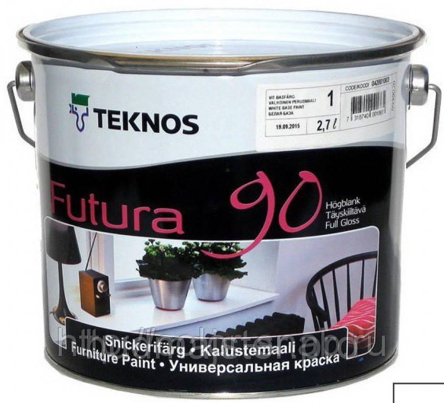 Фарба Teknos Футура 90 універсальна фарба, 9 л