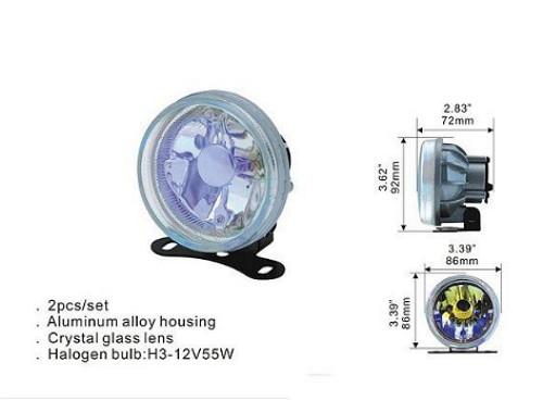Фары дополнительные DLAA 2040 W/H3-12V-55W/D=86mm компл.(8017)