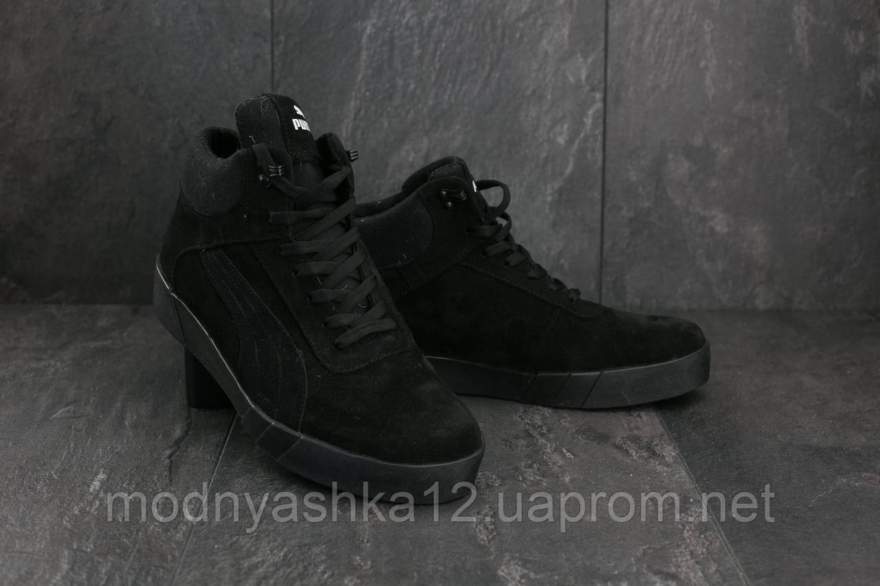 9528d672 Купить Кеды Yuves 100 (Puma) (зима, мужские, замша, черный) в Одессе ...