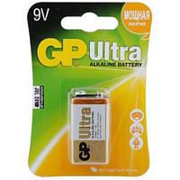 Батарейка GP Ultra + Alkaline 9V 6LF22 1604AU-5UE1, Крона (блистер)
