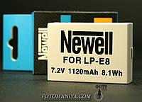 Акумулятори Newell для Canon LP-E8 (аналог)