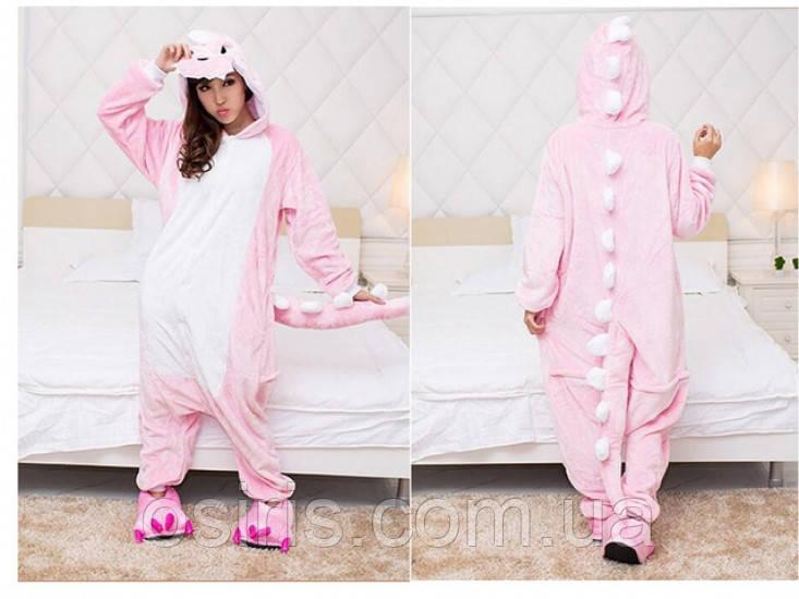 Пижама Кигуруми взрослое Розовый Дракон S (на рост 145-155) - Интернет- b028f039e7cfa