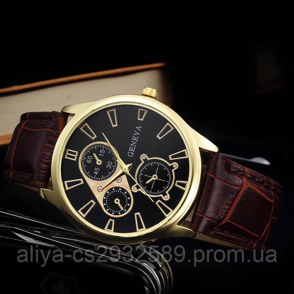 Кожаные мужские часы Geneva