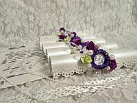 Именные приглашения на свадьбу Monogram (бело-фиолетовые)