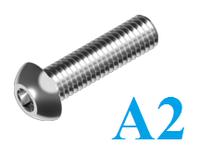 Винт с полукруглой головкой и внутренним шестигранником ISO 7380 нержавеющий А2