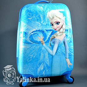 Детский дорожный чемодан на 4-х колесах Холодное Сердце 711