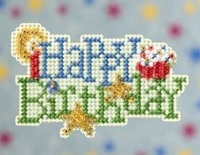 Набор для вышивания Happy Birthday / С днем рождения Mill Hill