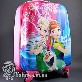 Детский дорожный чемодан на 4-х колесах Холодное Сердце 710