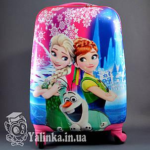 Детский дорожный чемодан на 4-х колесах Холодное Сердце 710, фото 2