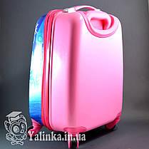 Детский дорожный чемодан на 4-х колесах Холодное Сердце 710, фото 3