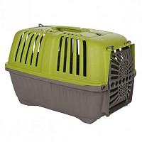 Переноска Pratico 1 Пратико 1 для кішок і собак зелена (48х31,5х33см, до 12кг) пластик двері