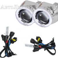 Комплект биксеноновых линз G5 с лампами Fantom с ангельскими глазками, фото 1