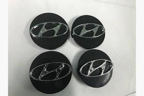 Колпачки в титановые диски 55 мм (4 шт) Hyundai I-10 2014-2017 гг.