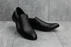 Мужские кожаные туфли Slat 1802 черные топ реплика