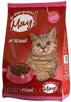 МЯУ Сухой корм для котов 11 кг в ассортименте Мяу! Сухой корм для кошек с мясом 11кг