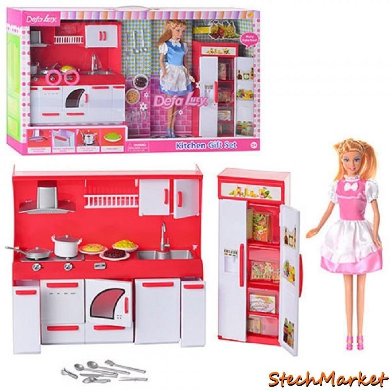 Кукла Defa 8085 2 вида с кухонной гарнитурой