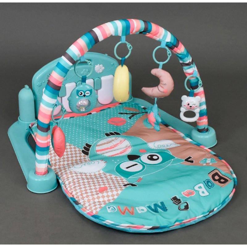 Коврик для младенца HX20104A игровой музыкальный 85х50см