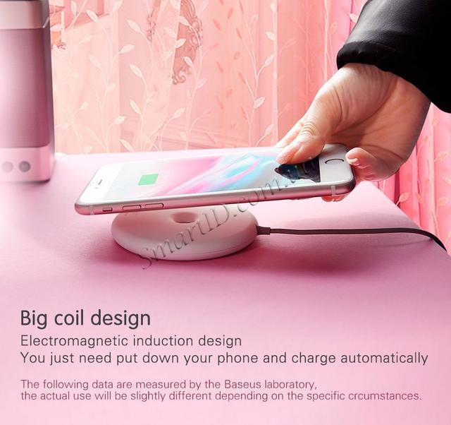 Беспроводное зарядное устройство Baseus Donut Wireless Charger Black 15W (WXTTQ-01)