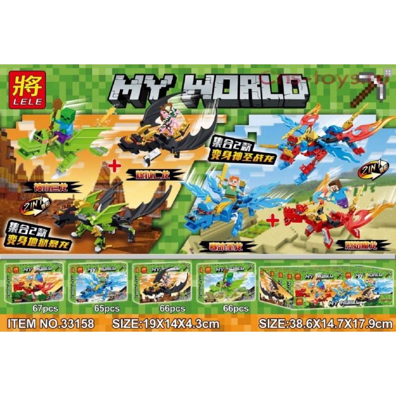 """Конструктор """"Летающие драконы"""" LELE 33158 My World"""