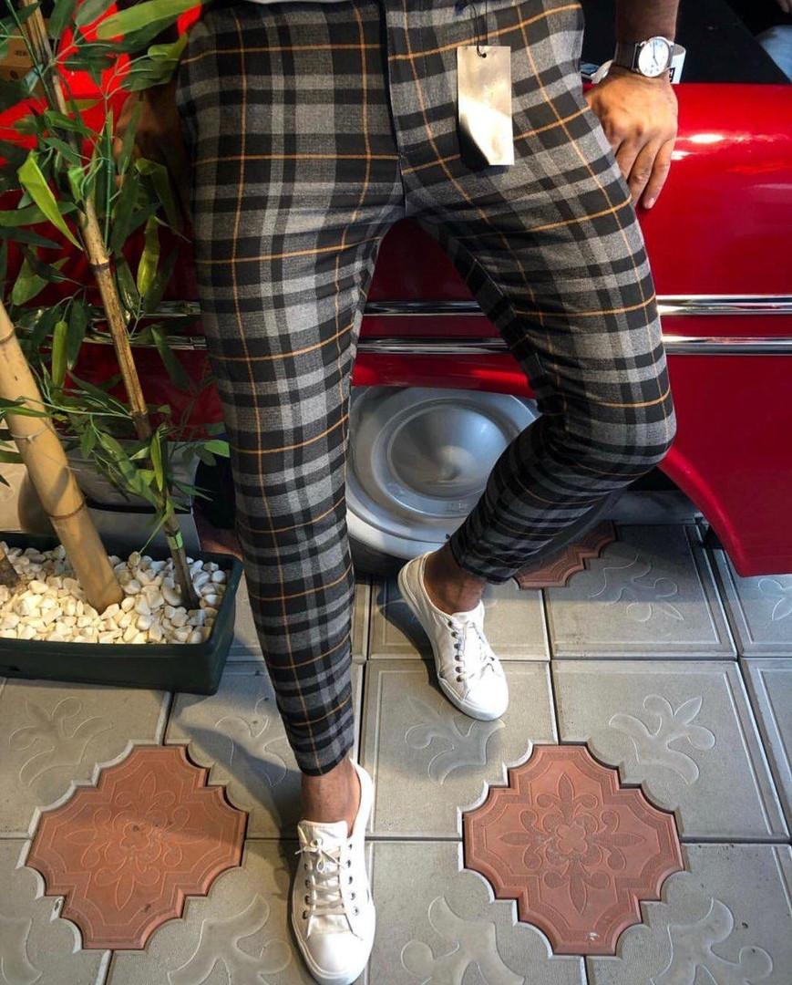 b9fb5c487e96 Мужские классические брюки в клетку ZARA MAN BDB89, цена 775 грн., купить в  Киеве — Prom.ua (ID#858852010)