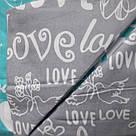 """Байковий комплект """"Love""""  двуспальний, фото 3"""