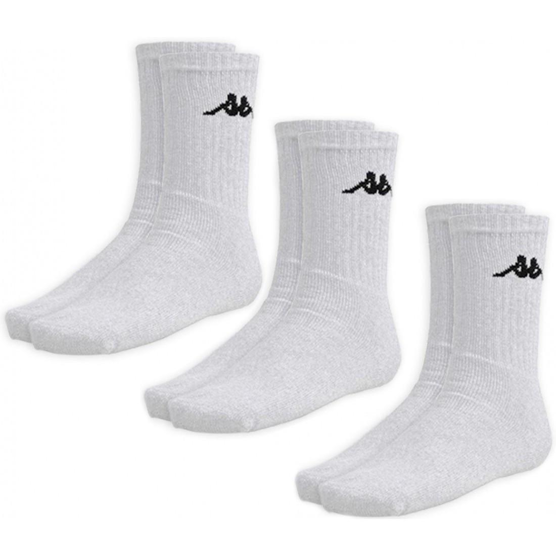 Носки Kappa socks белые (3-пары) (303WIG0901)