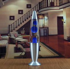 Лава лампа с парафином (40см) синяя