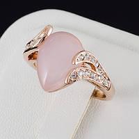 Изящное кольцо с кристаллами Swarovski, покрытие золото 0506