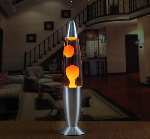 Лава лампа с парафином (40см) оранжевая
