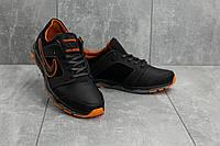 Мужские весенние кроссовки Nike New Mercury N8 черно-оранжевые топ реплика