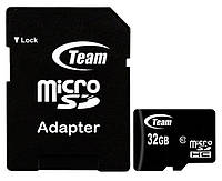 Карта памяти micro SDHC 32Gb Team (TUSDH32GCL1003), Class 10, adapter