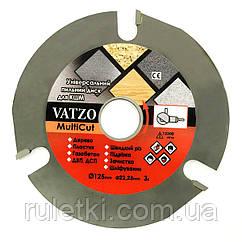 Пильный диск универсальный Vatzo MultiCut 125мм на УШМ