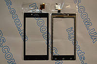 Оригинальный тачскрин / сенсор (сенсорное стекло) для Sony Xperia J ST26i (черный цвет, Synaptics, самоклейка)