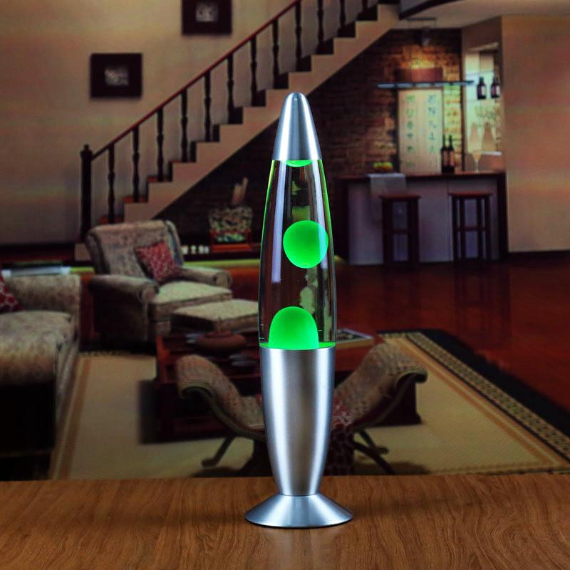 Лава лампа с парафином (40см) зеленая