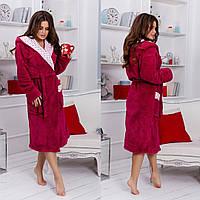 Женский халат длинный махровый