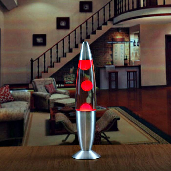Лава лампа с парафином (40см) красная