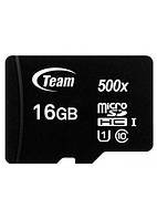 Карта памяти micro SDHC 32Gb Team UHS-I Black (TUSDH32GCL10U03), adapter