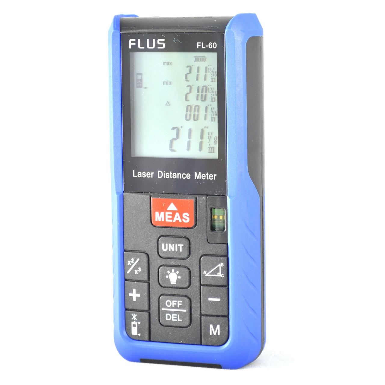 Flus FL-60 Лазерний далекомір/рулетка (60 метрів), фото 1