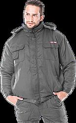 Куртка утеплена Мастер, 65% поліестер + 35% х/б + 100% поліестер, 180г/м²+180г/м², зелена, Reis